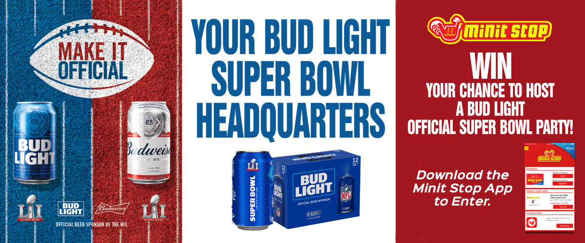BUD LIGHT OFFICIAL SUPER BOWL PARTY SWEEPSTAKES