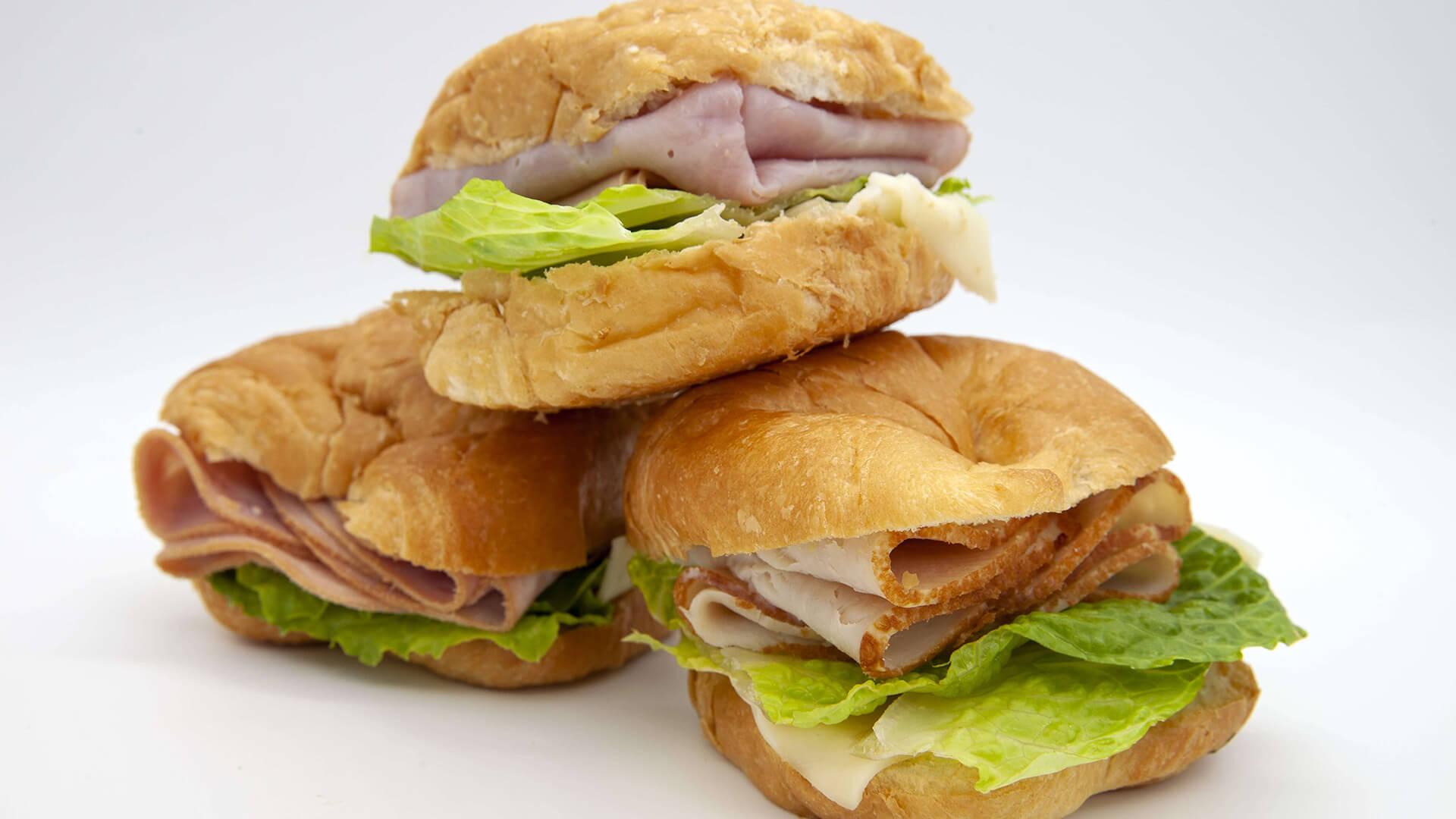 Ham Turkey Salami Deli Sandwiches